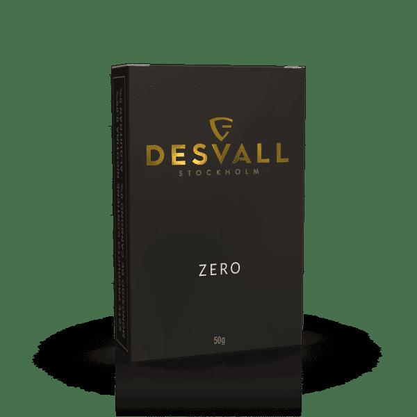 Essência desvall, embalagem preta com descrições douradas