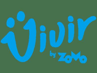 logotipo azull zomo vivir