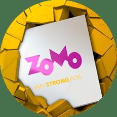 Icone amarelo com papel aluminio zomo